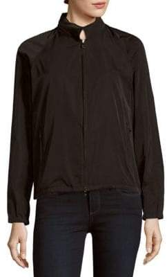 Jil Sander Sport Silk-Blend Zip-Front Jacket
