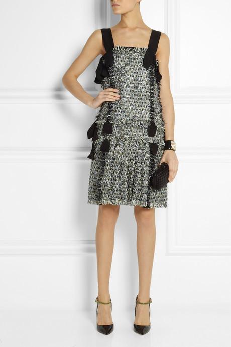 Lanvin Metallic bouclé-tweed dress