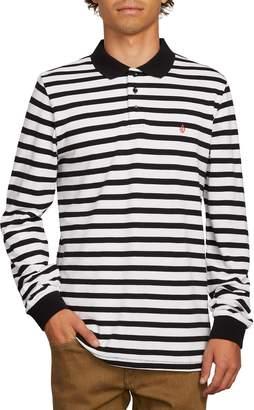 Volcom Gon James Stripe Long Sleeve Polo