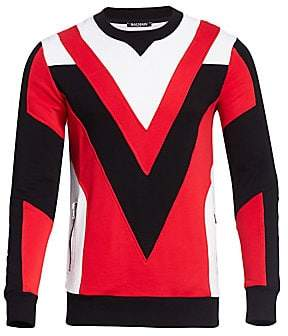Balmain Men's Quilted Sweatshirt