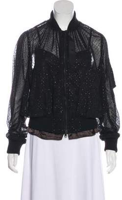 Sacai Semi-Sheer Long Sleeve Jacket