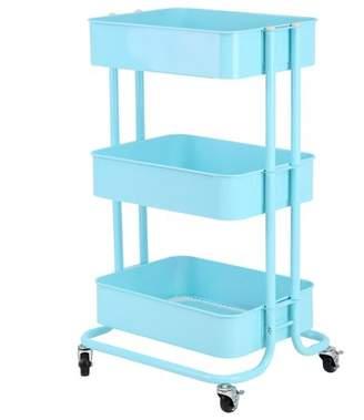 Yosoo YOSOO 3 Tiers Storage Rack Trolley Cart Slim Rolling Trolley With Wheels Kitchen Green