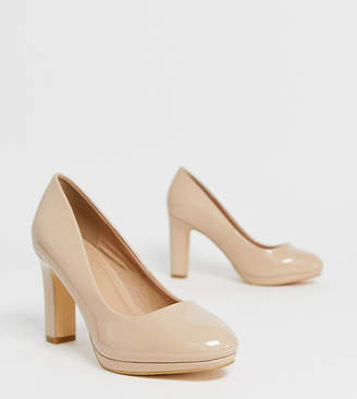 BEIGE Simply Be Wide Fit Simply Be wide fit Abigail heeled pumps in