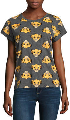 Mighty Fine Lion King Simba Allover Print Tee - Juniors