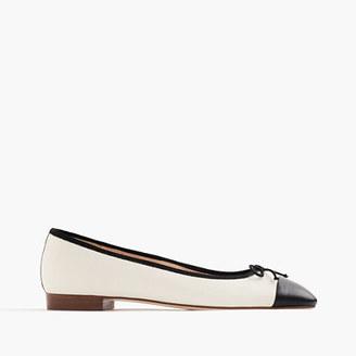 Kiki leather cap-toe ballet flats $158 thestylecure.com