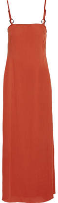Solid & Striped Staud Calico Crinkled Gauze Maxi Dress - Brick