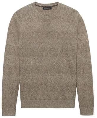 Banana Republic Silk-Linen Texture Crew-Neck Sweater