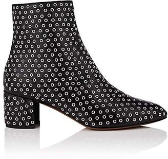 Alaia Women's Grommet-Embellished Leather Ankle Boots