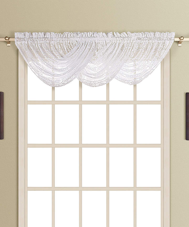 White New Rochelle Waterfall Valance