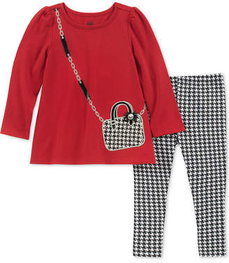 Kids Headquarters Baby Girls 2-Pc. Purse Graphic Tunic & Checked Leggings Set