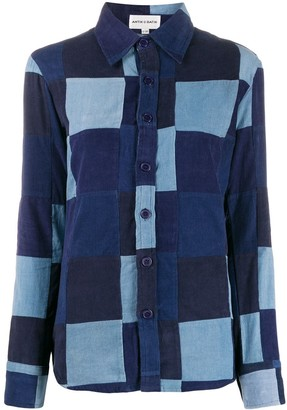 Antik Batik patchwork denim shirt