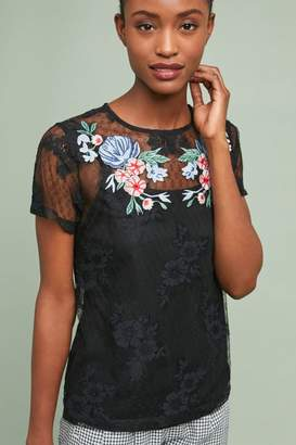 Blue Tassel Florence Embroidered Top