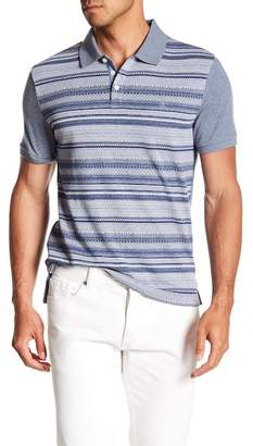 Original Penguin Short Sleeve Fair Isle Front Polo
