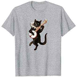 Banjo Cat Shirt-Blue Fan T-Shirt