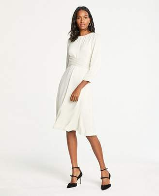 Ann Taylor Petite Wrap Front Midi Dress
