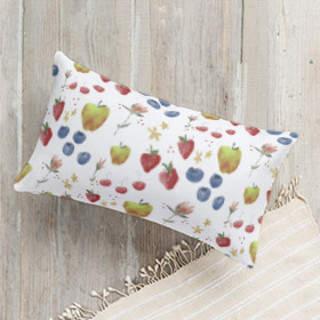 FLORA and the FRUIT 3 Self-Launch Lumbar Pillows