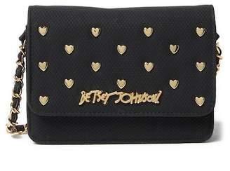 Betsey Johnson Heart Stud Crossbody Bag