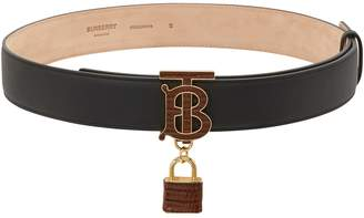 Burberry Grained calfskin belt