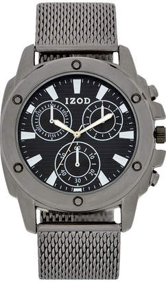Izod Mens Gray Strap Watch-Izo5148jc