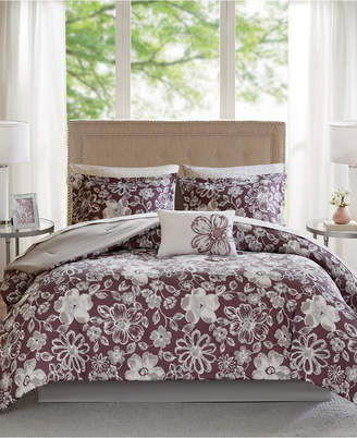 Madison Park Essentials Lily Reversible 9-Pc. Queen Comforter Set Bedding
