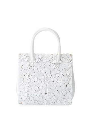 Nancy Gonzalez Tess Medium Linen Floral Tote Bag