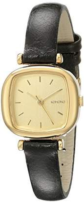Komono Women's KOM-W1202 Moneypenny Analog Display Japanese Quartz Black Watch