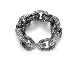 Shay Accessories Pave Crystal Chunky Link Bracelet