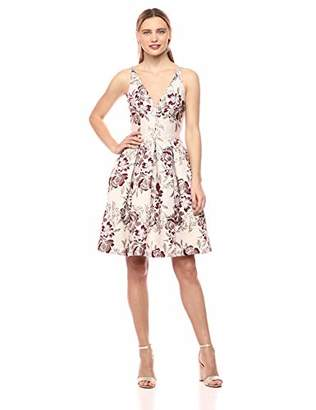 Dress the Population Women's Collette Sleeveless Fit and Flare Party Dress