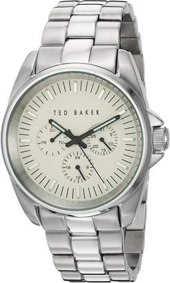 Ted Baker Men's 10025264 Vintage Analog Display Japanese Quartz Silver Watch