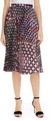 Reiss Leah Mixed Print Midi Skirt