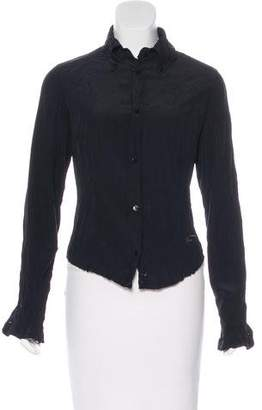 Just Cavalli Long Sleeve Button-Up Top