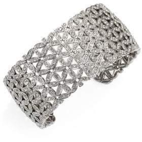 Adriana Orsini Anise Wide Crystal Cuff Bracelet