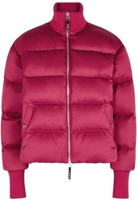 Alexander McQueen Fuchsia Quilted Silk-blend Jacket