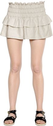 Stretch Linen & Cotton Gauze Skirt $280 thestylecure.com
