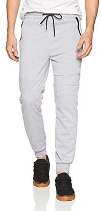 Southpole Men's Tech Fleece Jogger Pants With Zipper Details