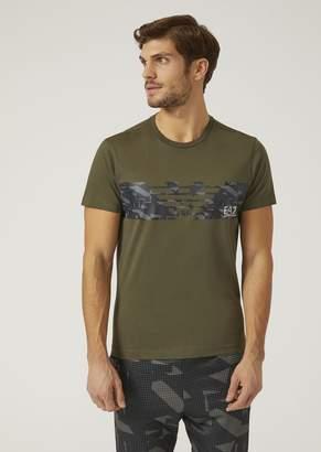 Emporio Armani Ea7 T-Shirt With Maxi Logo