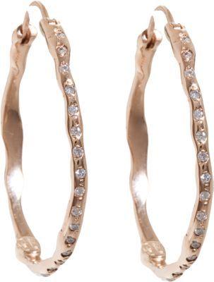 Lucifer Vir Honestus Diamond Medium Organic Hoop Earrings