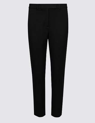 Marks and Spencer PETITE Cotton Blend Slim Leg Trousers