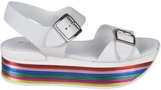 Hogan Rainbow Heel Sandals
