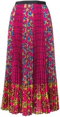 RED Valentino mixed print midi skirt