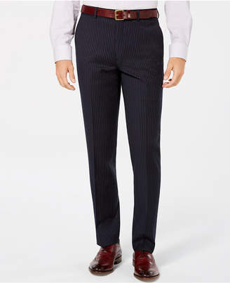 Bar III Men's Slim-Fit Stretch Blue Stripe Suit Pants