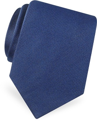 Forzieri Gold Line Solid Classic Woven Silk Tie
