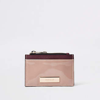 River Island Brown zip pouch card holder