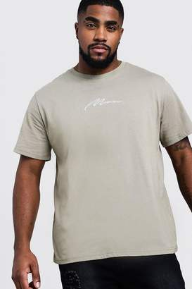 boohoo Big & Tall Man Embroidered T-Shirt