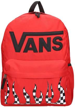 Vans Red Canvas Real Flying Backpack