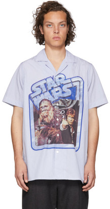 Etro Blue and White Star Wars Edition Poster Shirt