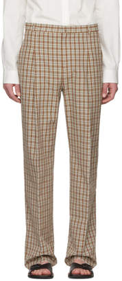 Acne Studios Orange Check Kalnar Suit Trousers