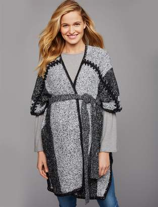 A Pea in the Pod Reversible Poncho Maternity Sweater