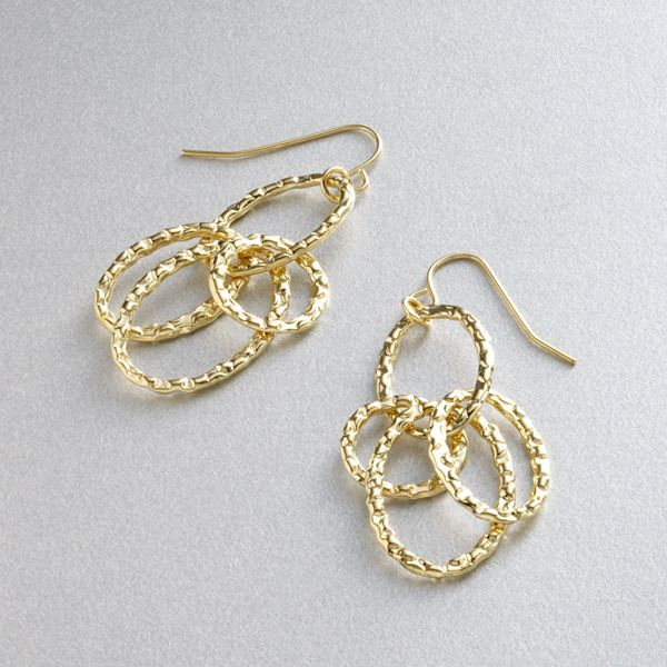 Daisy fuentes® gold-tone drop earrings
