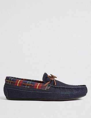Marks and Spencer Suede Slip-on Moccasin Slippers